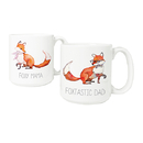 Cathy's Concepts MF-3900FOX Foxtastic Dad and Foxy Mama 20 oz. Large Coffee Mugs (Set of 2)
