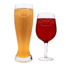 Cathy's Concepts MF16-HS2550 Personalized Mom & Dad XL Beer and Wine Glass Set