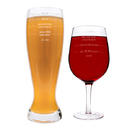 Cathy's Concepts MF16-MS2550 Personalized Parent Measuring XL Beer and Wine Glass Set