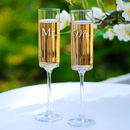 Cathy's Concepts MM3668 Mr. & Mrs. Contemporary Champagne Flutes