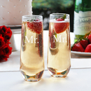Cathy's Concepts MR1228-2 Mr. & Mr. Stemless Champagne Toasting Flutes