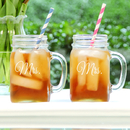 Cathy's Concepts MRS1190-2 Mrs. & Mrs. Old Fashioned Drinking Jar Set