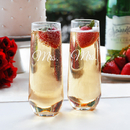 Cathy's Concepts MRS1228-2 Mrs. & Mrs. Stemless Champagne Toasting Flutes