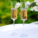 Cathy's Concepts MRS3668 Mrs. & Mrs. Contemporary Champagne Flutes