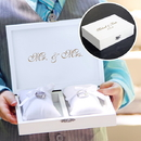 Cathy's Concepts RB3922W White Ring Bearer Pillow Box