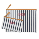 Cathy's Concepts S2189SP Personalized Striped Clutch Set