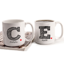 Cathy's Concepts SCR-3900 Personalized Initial Large Coffee Mugs (Set of 2)