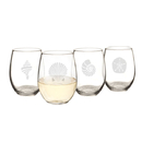 Cathy's Concepts SEA-1110 21 oz. Seashell Stemless Wine Glasses