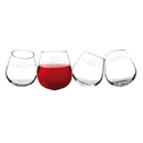 Cathy's Concepts V17-1119-4 Let's Get Tipsy 12 oz. Tipsy Wine Glasses (Set of 4)