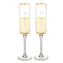 Cathy's Concepts WW3668G Wifey & Wifey 8 oz. Gold Rim Contemporary Champagne Flutes