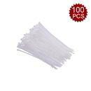 Aspire 100 Pcs 8-Inch Nylon Cable Ties, 48 Lb Tensile Multi-Purpose Plastic Ties, White