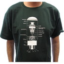 CE Distribution G-869 T-Shirt - Forest Green with 6L6 Diagram