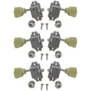 Tuners - Gotoh, Vintage-Style Locking, nickel, 3 per side