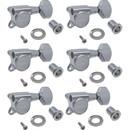 Tuners - Gotoh, Locking Schaller-style Knob, chrome, 6-in-a-line