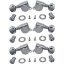 Tuners - Gotoh, Locking Oval Knob, 3+3 Chrome