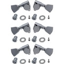 Gotoh P-GGT-49-C Tuners - Gotoh, Grover Style, Keystone, Chrome, 3 per side