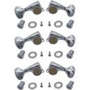 Gotoh P-GGT-6-X Tuners - Gotoh, Midsize 510, Metal Knobs, 3 per side, diag. mount