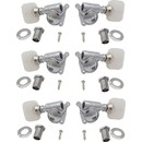 """Grover P-GRV-103X Tuners - Grover, Rotomatic, """"Milk Bottle"""", 3 per side, Pearloid"""