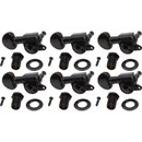 Grover P-GRV-205BCL6 Tuners - Grover, Mini Rotomatic, left-handed, black, 6-in-line