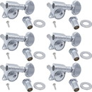 Grover P-GRV-305X6 Tuners - Grover, Mid-size Rotomatic, 6 in line