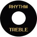 Switchwashers - Rhythm / Treble, Gold Lettering, for Les Paul