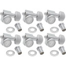 Fender P-GTMH08 Tuners - Fender, Locking Tuners, 6 in line, satin chrome