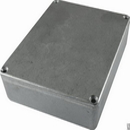 "Box - Hammond, Unpainted Aluminum, 4.67"" x 3.68"" x 1.18"" Depth"
