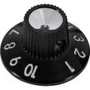 Knob - for Blackface/Silverface Amps, Black, Skirted, Set Screw