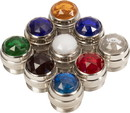 Set of 8 Colored Lamp Indicator Jewels, Replacements for Fender