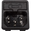 Receptacle - AC power plug with fuse holder, 10A, 250VAC