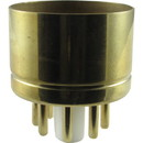 """CE Distribution P-SP8-478 Tube Base - 8 Pin, Gold Coated Pins, 1.20"""" diameter"""