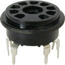 Socket - 9 Pin, PC Mount, Black Plastic