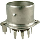 Socket - 9 Pin, Crimped with Shield Base, Micalex, PC Mount