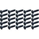 "Screw - #4 x ½"", Oval Head, SHT MTL, Black Oxide"
