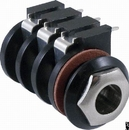 Jack - Stereo Input with Ferrule, 6 PC Mount Terminals