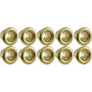 Eyelets - Brass, .121 x .125 x .200; MT .0095, package of 10