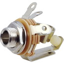 """¼"""" Mono 2-Conductor Input Jack, Double Open Circuit (Type 13), Switchcraft"""