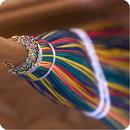 Camden Rose 1082 Child's Rainbow Broom, Cherry Handle