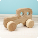 Camden Rose 3011 Toddler Classic Wood Car Push Toy