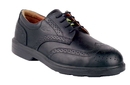 COFRA 33020-CU0 Bell SD, Derby Black Pierced Full Grain Leather/Full Grain Lining/Steel/Noplate Shoe