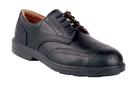 COFRA 33020-CU0 Bell SD, Derby Black Pierced Full Grain Leather/Full Grain Lining/Steel/Noplate Shoe