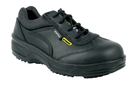 COFRA 34920-CU0 Ingrid SD, Shoe Black /Black Leather/Steel Toe/Pu Sole
