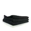 "Chemical Guys MIC35303 Workhorse Black Professional Grade Microfiber Towel 16""X16"" (Rubber/Plastic/Vinyl) (3 Pack)"