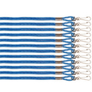 Champion Sports 126BL Nylon Lanyard Blue Bulk