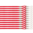 Champion Sports 126RD Heavy Nylon Lanyard, Scarlet