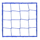 Champion Sports 205BL 4.0Mm Official Size Soccer Net Blue