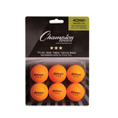 Champion Sports 3STR6OR 3Star Tournament Table Tennis Orange