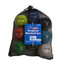 Champion Sports BBWTSET Weighted Training Baseballs Set Of 9