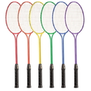 Champion Sports BR30SET Tempered Steel Twin Shaft Badminton Racket Set