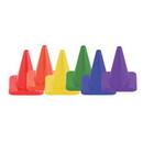 Champion Sports C6SET 6 Inch High Visibility Flexible Vinyl Cone Set/6